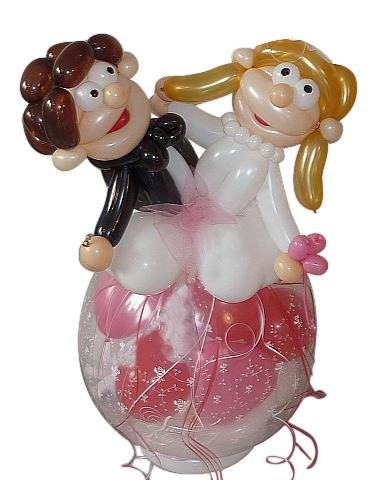 geschenkballon zur hochzeit geschenk im luftballon ballongeschenk. Black Bedroom Furniture Sets. Home Design Ideas